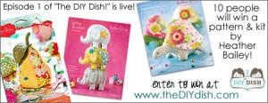 """Win a Heather Bailey Pin Cushion Kit"" at www.theDIYdish.com"
