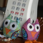 Owls at Sewing Machine